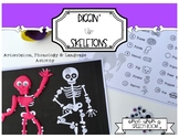Diggin' Up Skeletons: LOW PREP Speech Therapy Play Dough Activity