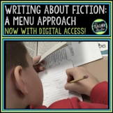 Digging Deeper into Texts:  Writing about Fiction Menu Project