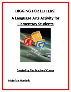 Digging For Letters: A Language Arts Activity