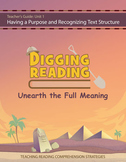 Digging Reading, Unit 1: Having a Purpose and Recognizing