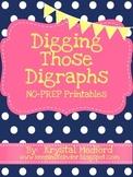 Digging Those Digraphs (No-Prep Printables)