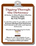 Digging Through the Dictionary: Practicing Dictionary Skills