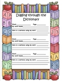 Digging Through the Dictionary