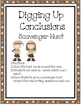 Digging Up Conclusions Drawing Conclusions Hunt Activity