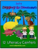 Digging Up Dinosaurs Literacy Centers: Half-Pint Readers Set 6