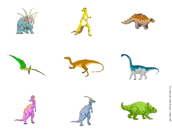 Digging Up Dinosaurs Match Game Activity:  Same and Different