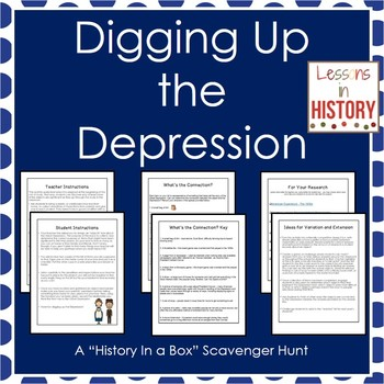 The Great Depression - History in a Box Scavenger Hunt (Research Project)