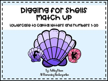 Digging for Shells - Match up - Letters and Numbers