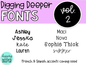 DiggingDeeperFONTS the GROWING bundle!