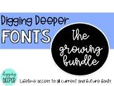 DiggingDeeperFONTS the GROWING bundle!