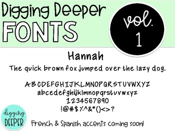 DiggingDeeperFONTS Volume One