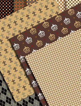 Digi Alphabet Argyle Style – 91 Files – Numbers – Latin Letters – Pattern Sheets