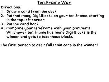 Digi Block Ten Frame War