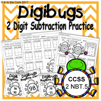 DigiBugs 2 Digit Subtraction Practice