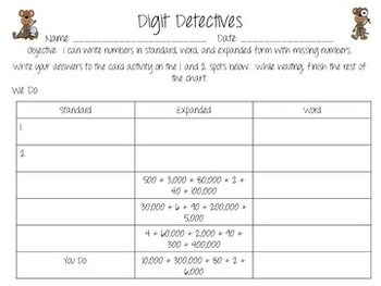 Number Forms Printables