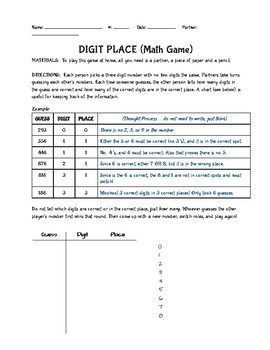 Digit Place! Place Value Math Game