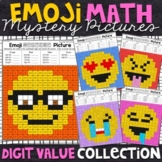 Digit Value | Emoji Place Value Mystery Pictures | Place Value Color by Number