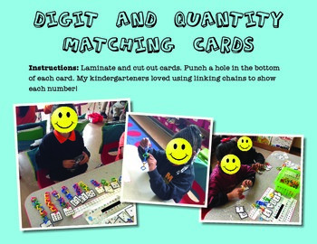 Digit and Quantity Cards 1-10