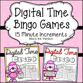 telling-time-within-15-minute-increments {Bingo Bundle Black and White}