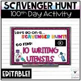 Digital 100th Day Scavenger Hunt