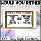 Digital 100th Day Would You Rather