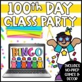 Digital 100th Day of School Games and Activities   Virtual