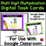 Digital 2-Digit Multiplication Task Cards - Google Classro