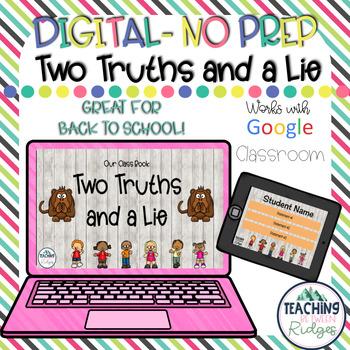 Digital 2 Truths and a Lie Icebreaker Activity - Google Classroom