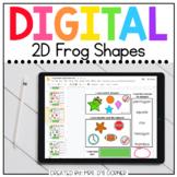 Digital 2D Frog Shapes   Digital Shapes Activity