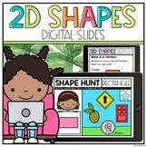 Digital 2D Shapes Kindergarten & Grade 1 - Google Slides   Distance Learning