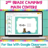 Digital 2nd Grade Camping Math Centers for Use With Google