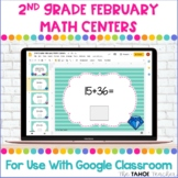 Digital 2nd Grade February Math Centers for Use With Googl