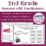 Digital 2nd Grade Measure with Centimeters