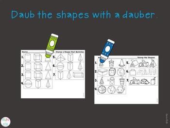 Digital 3-D Shapes Center Activities