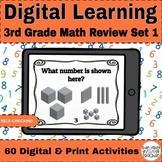 Digital 3rd Grade Math Review Google Form™️ - Set 1 - Dist