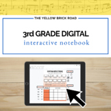 Digital 3rd Grade Music Interactive Notebook