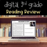 Digital 3rd Grade Reading Review - Distance Learning