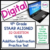 Digital 4.4A STAAR Aligned 32 Question State Test Practice