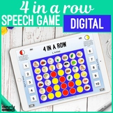 Digital 4 in a Row No Print Game for Articulation on an iP