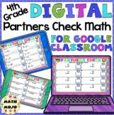 Digital 4th Grade Math: Emoji Theme Partners Check Activit