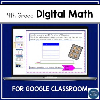 Digital 4th Grade Math Practice Distance Learning FREE