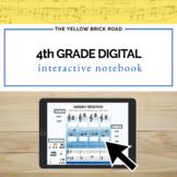 Digital 4th Grade Music Interactive Notebook