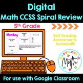 Digital 5th Grade Math Spiral Review 5th Grade Morning Work *Growing Bundle*