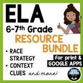 ELA Reading Comprehension & RACE Strategy Writing Bundle f