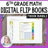 Digital 6th Grade Mini Tabbed Flip Book Bundle