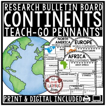 Digital Resource 7 Continents Research -Paperless Activities Google Classroom™