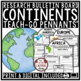 Digital 7 Continents Research Project for Google Slide Template World Geography