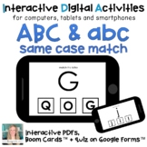 Digital ⋅ ABC abc identical matching ⋅ Interactive PDF, Bo