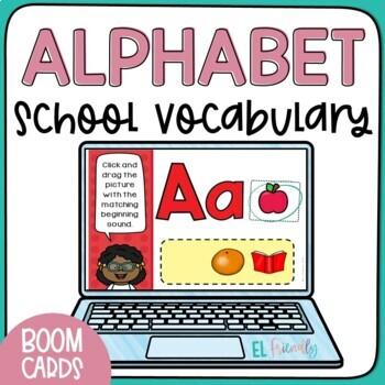 Digital ABCs Practice with School Words Beginner ESL for Google Classroom™