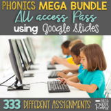 Digital ALL ACCESS PASS Phonemic MEGA BUNDLE using Google Slides